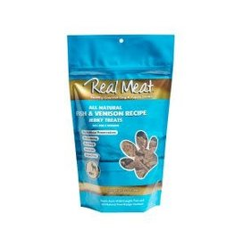 The Real Meat Company Real Meat Jerky Treats: Fish & Venison - 2 sizes available