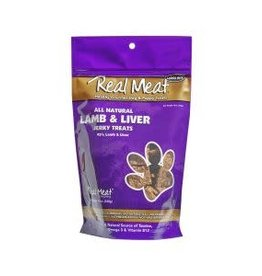 The Real Meat Company Real Meat Jerky Treats: Lamb & Liver - 2 sizes available