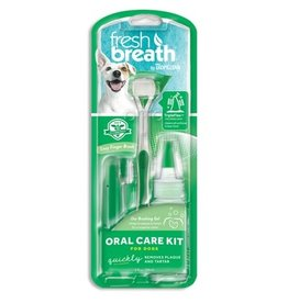 Tropiclean Fresh Breath Oral Care Kit: Large Toothbrush & Brushing Gel, Large