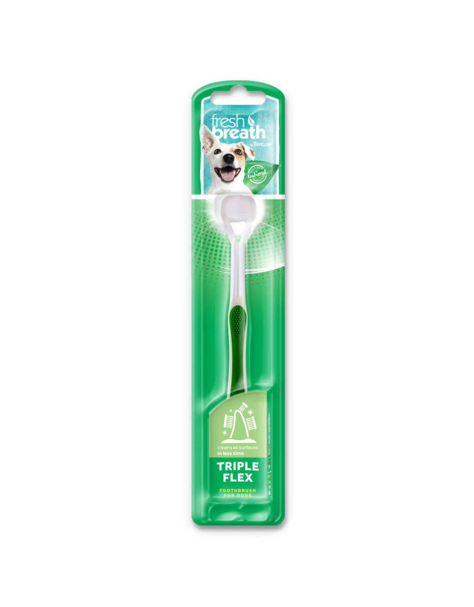 Tropiclean Fresh Breath Triple Flex Toothbrush: toothbrush, small