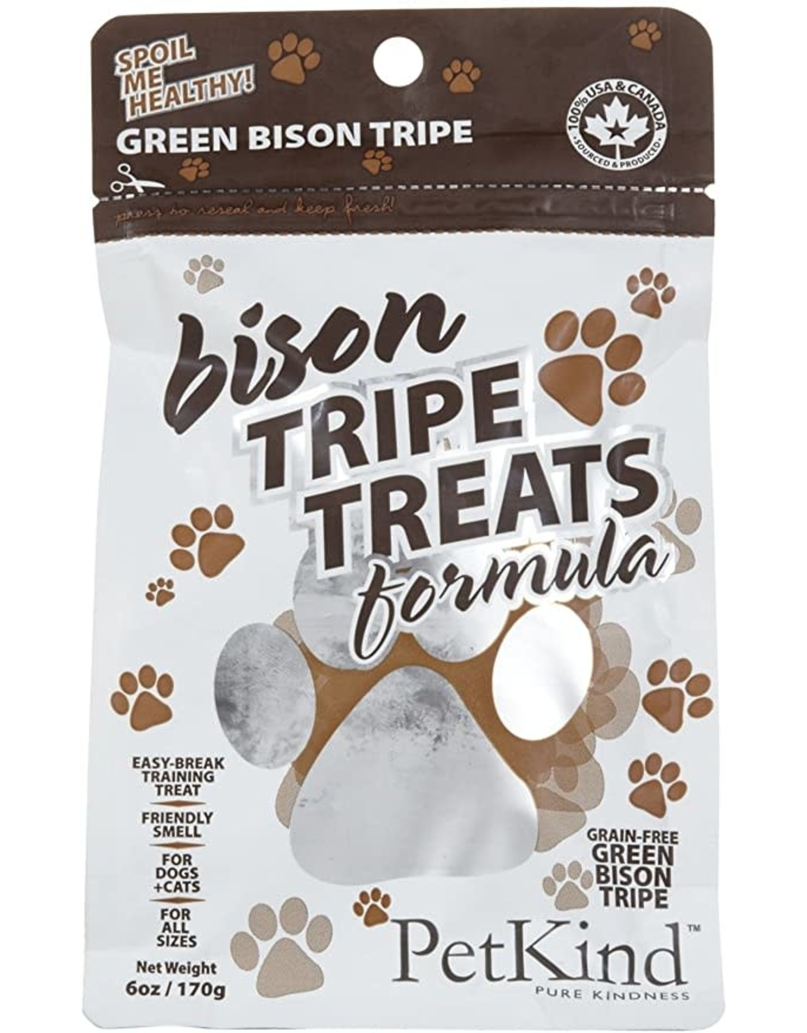 Pet Kind Pet Kind Tripe Jerky Treats: Bison, 6oz