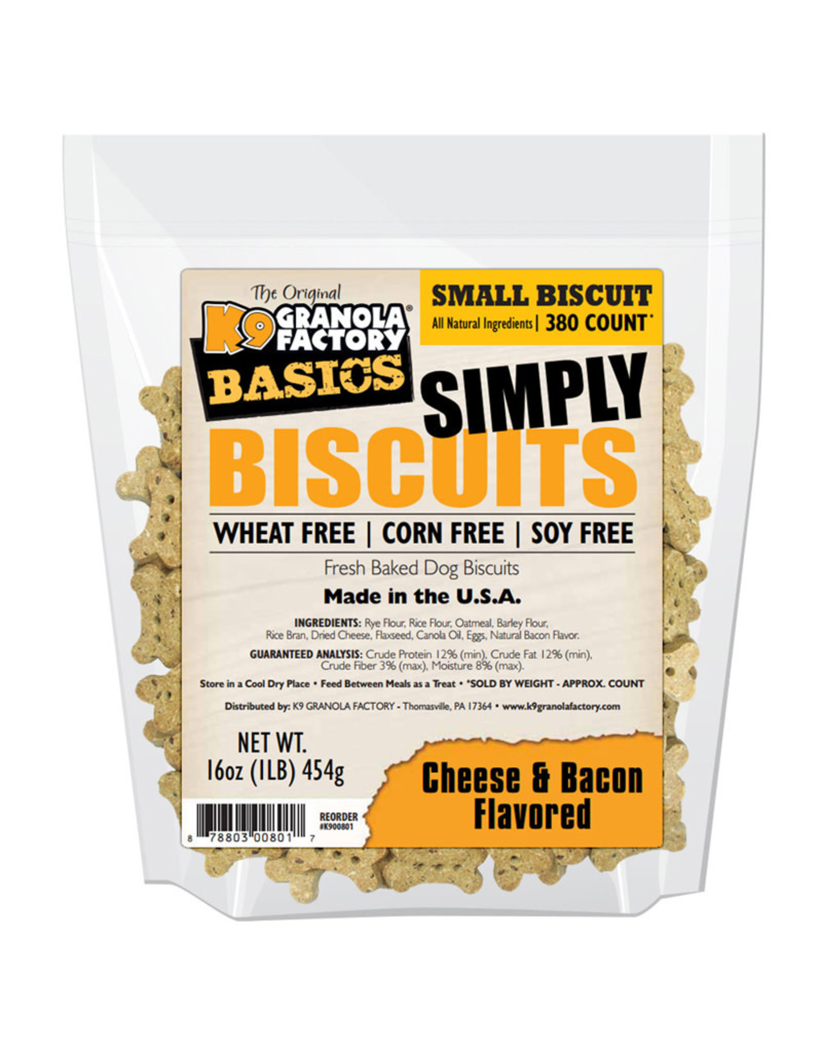 K9 Granola Factory K9 Granola Factory Simply Biscuits Small: Cheese & Bacon, 16 oz