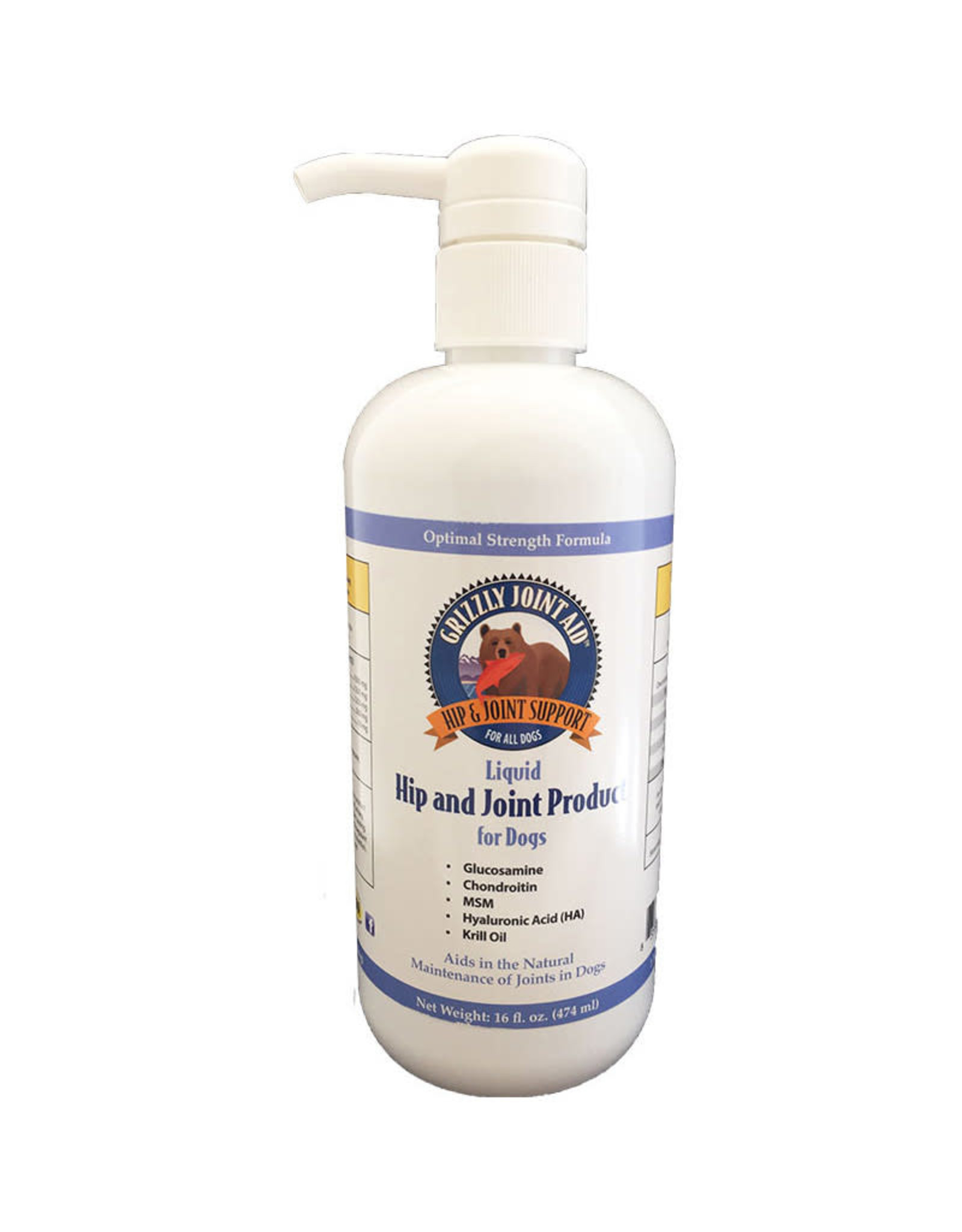 Grizzly Pet Products Grizzly Joint Aid: Liquid, 16 oz