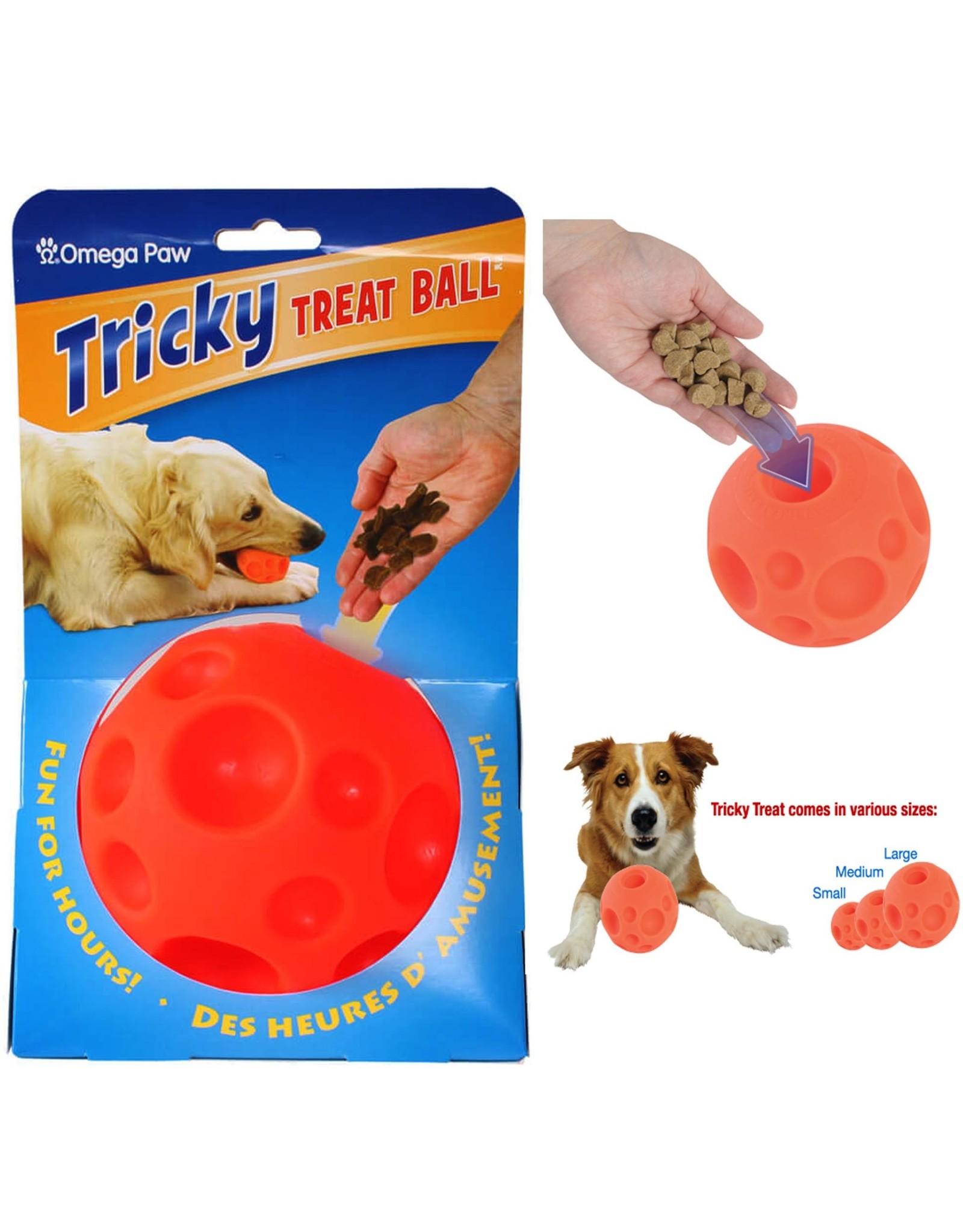 Omega Paw Treat Ball: Orange, Medium