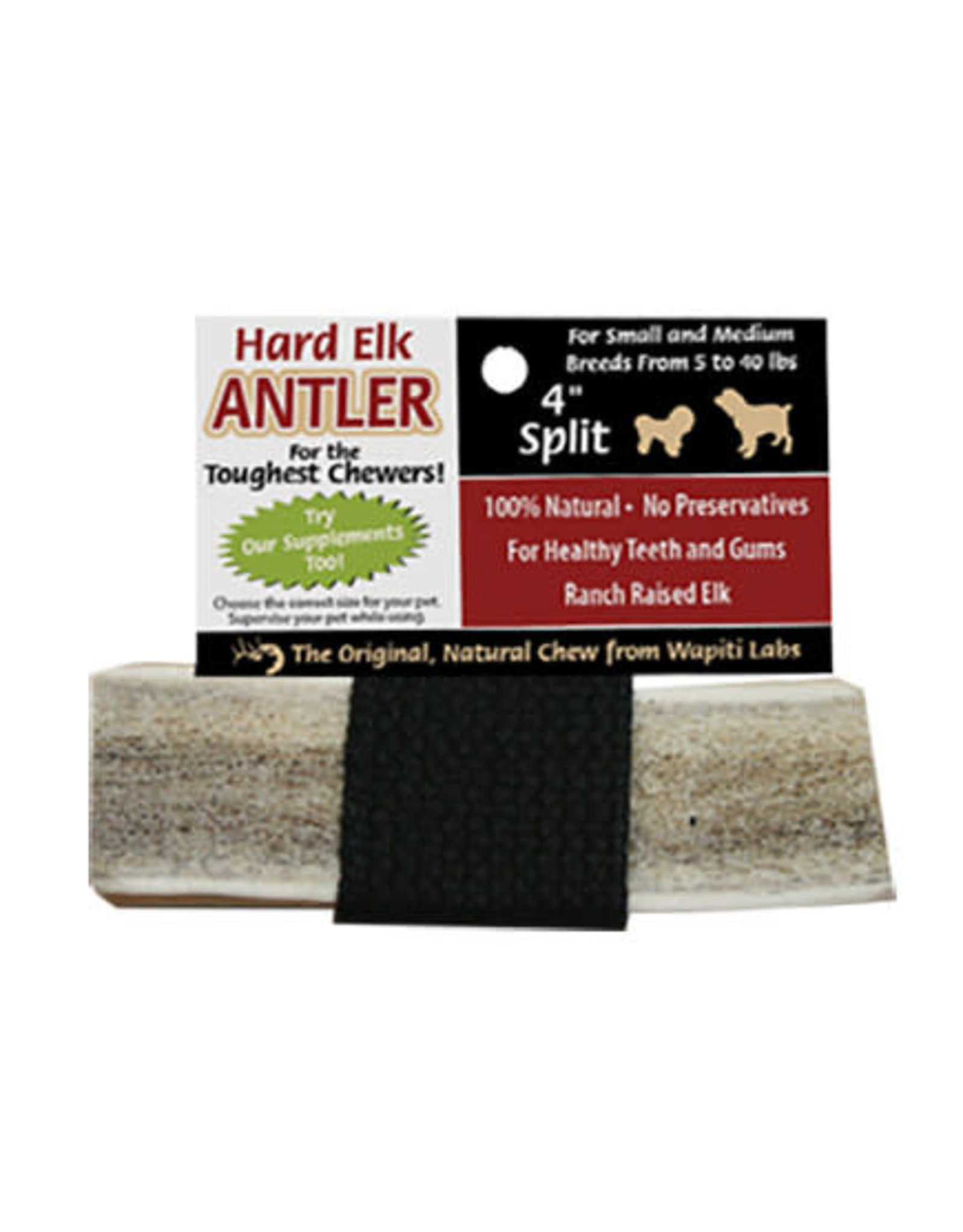 "Wapiti Labs Wapiti Labs Split Elk Antler:, 4"""