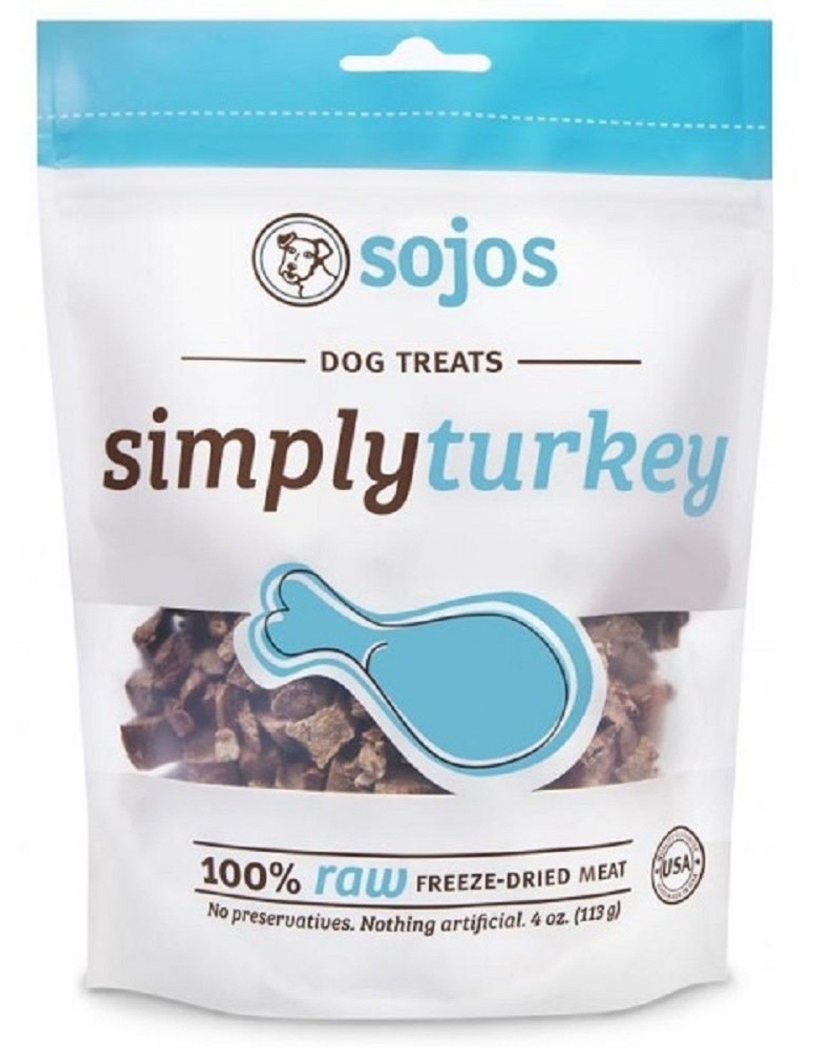 Sojos Sojos Simply Turkey: Freeze Dried, 4oz
