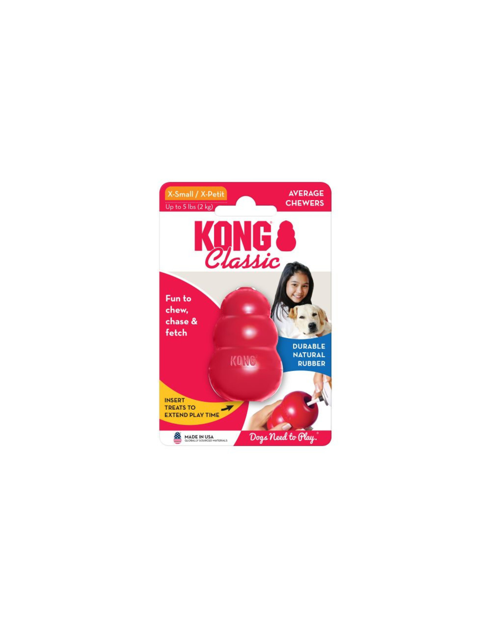 Kong Classic Kong: red, XS