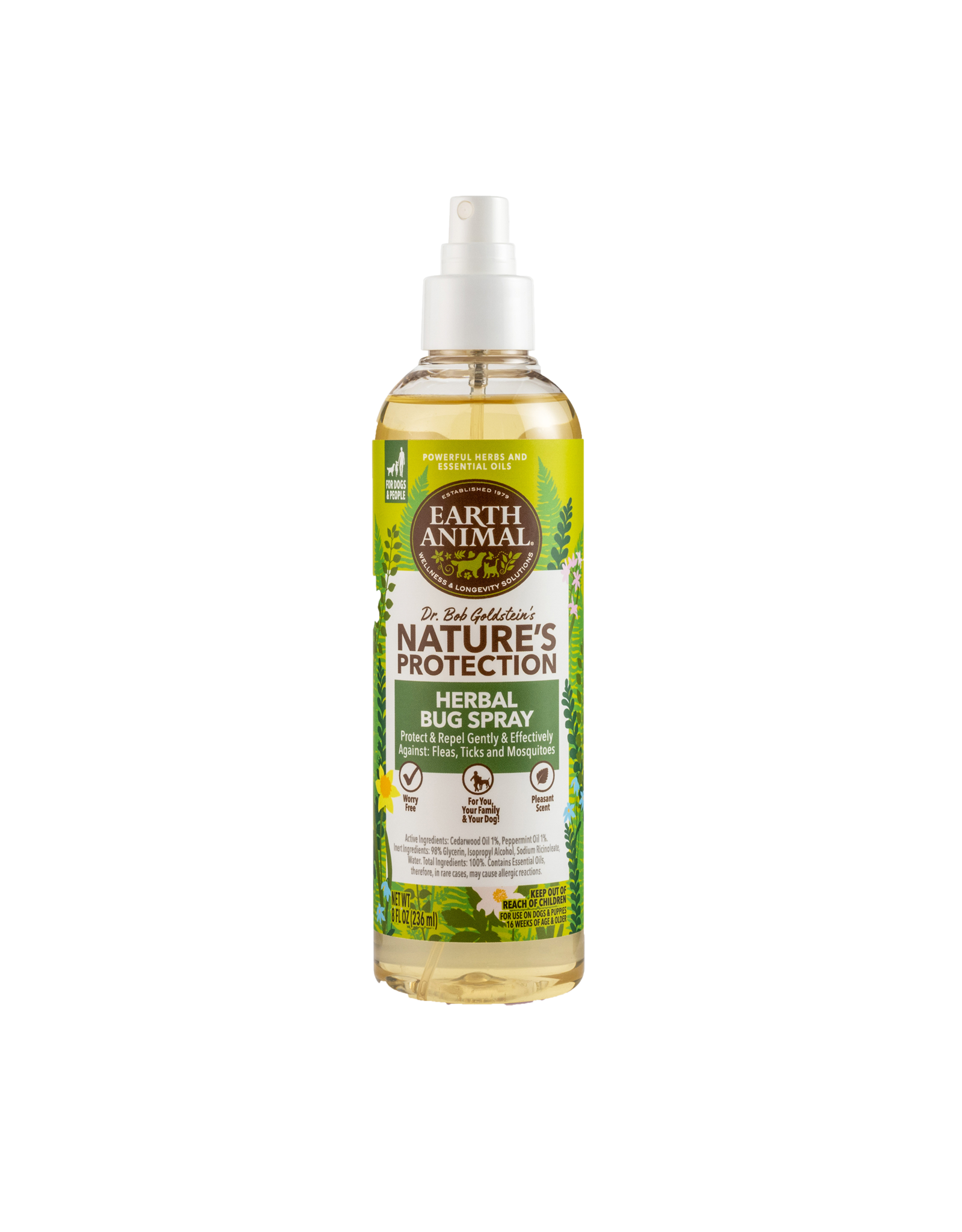Earth Animal Nature's Protection: Bug Spray, 8 oz