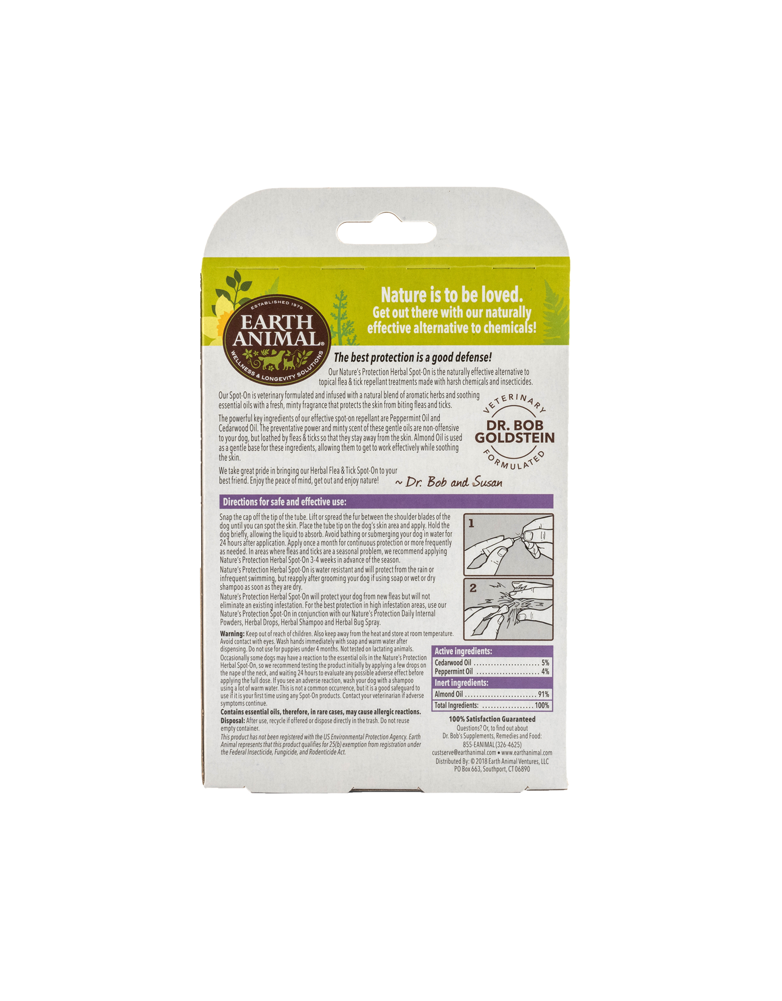Earth Animal Nature's Protection: Flea & Tick Spot On, Large Dogs