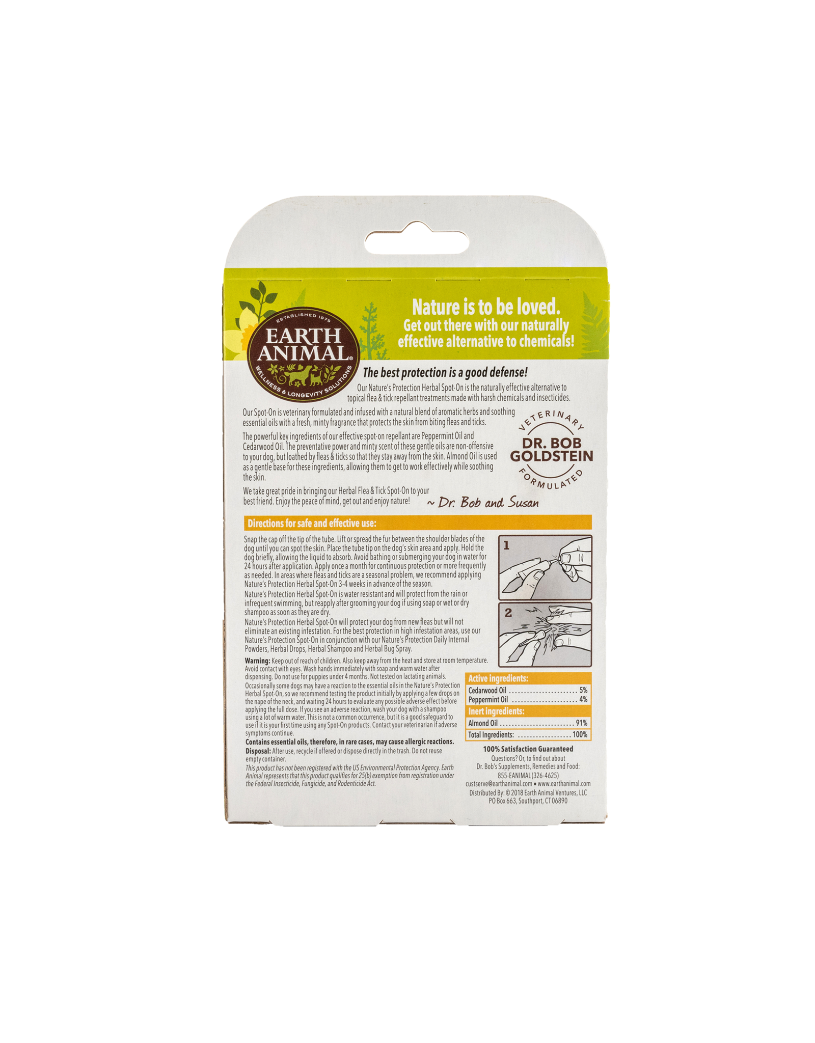Earth Animal Nature's Protection: Flea & Tick Spot On, Small Dogs & Puppies