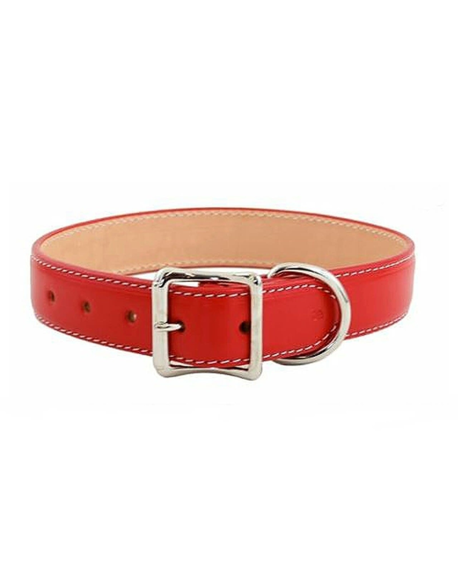 """Auburn Leathercrafters Dover Court Collar: red, 1 1/4"""" x 26"""