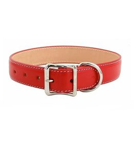 "Auburn Leathercrafters Dover Court Collar: red, 1 1/4"" x 26"