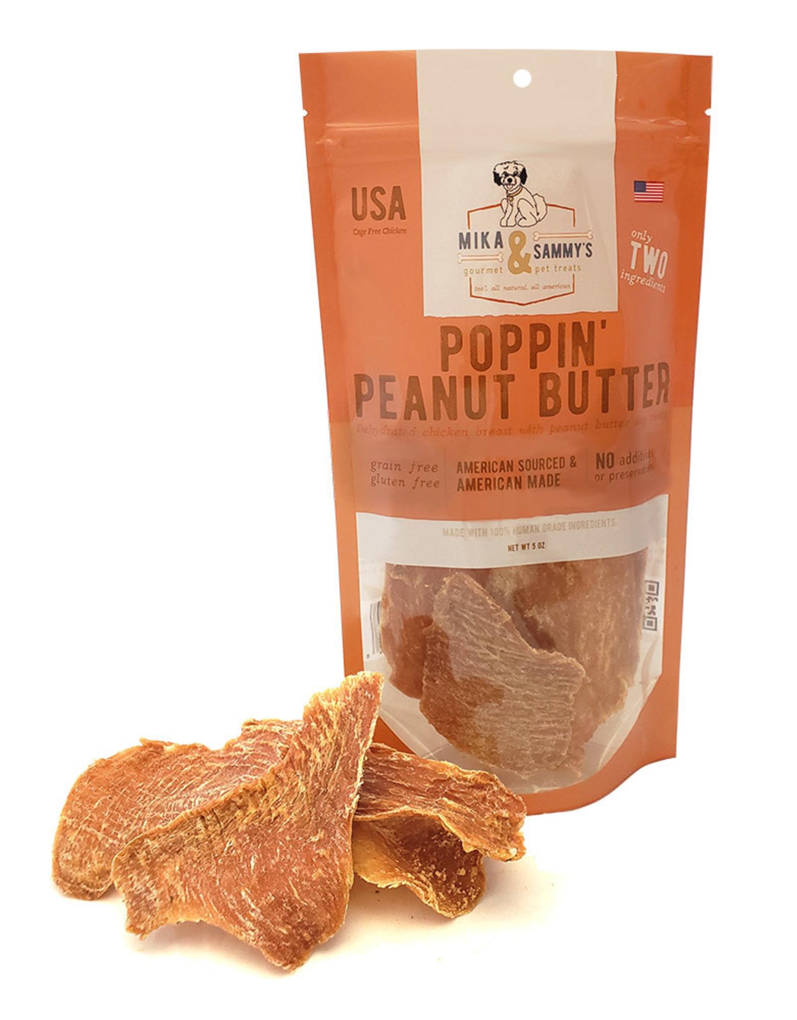 Mika & Sammy's Gourmet Pet Treats Mika & Sammy's: Poppin' Peanut Butter, 5 oz