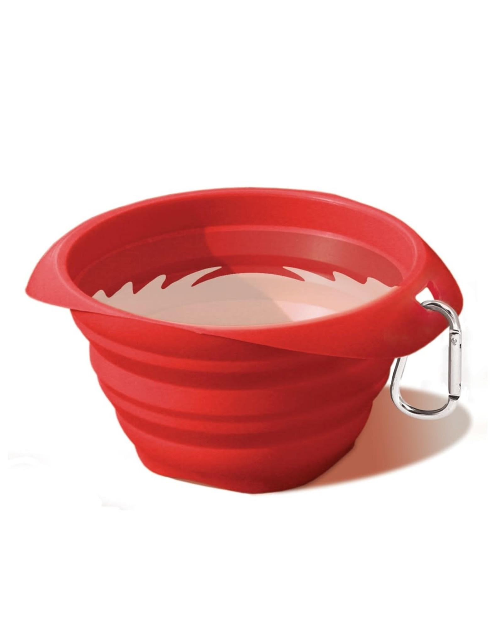 Kurgo Collaps-a-Bowl: red, 24 oz