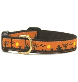 Up Country Spookytown Halloween Collar: Narrow, S