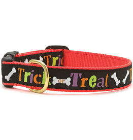 Up Country Trick or Treat Halloween Collar: Narrow, S