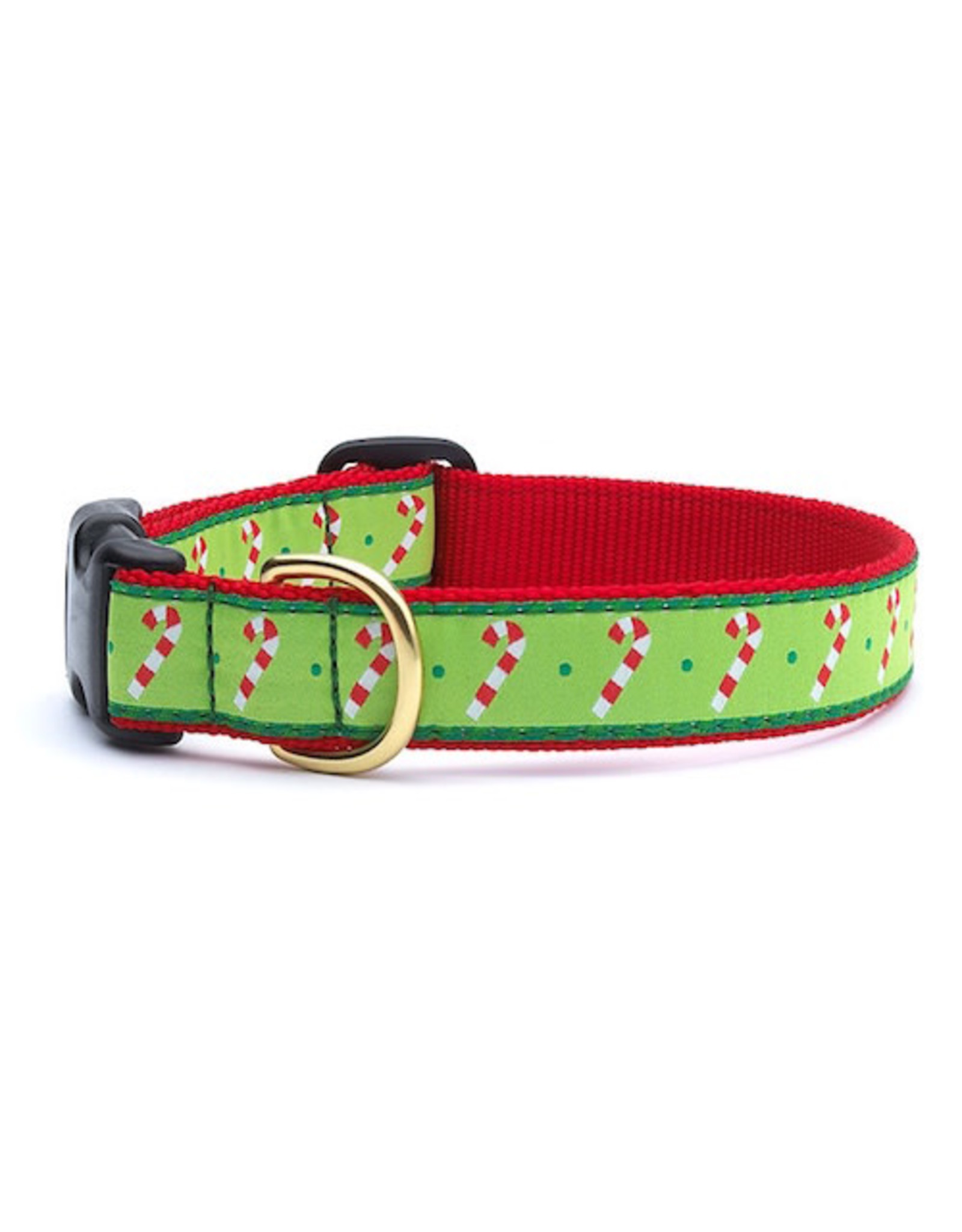 Up Country Candy Cane Collar: Wide, L