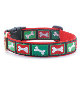 Up Country Christmas Bones Collar: Narrow, S
