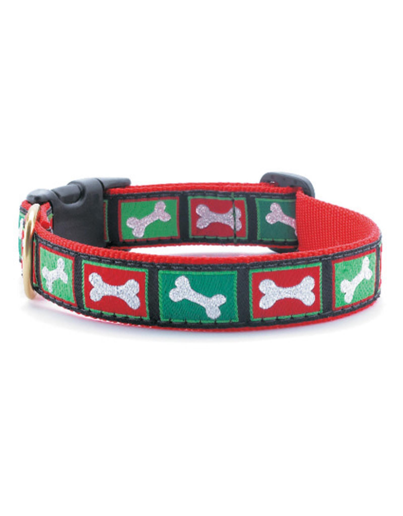 Up Country Christmas Bones Collar: Narrow, XS