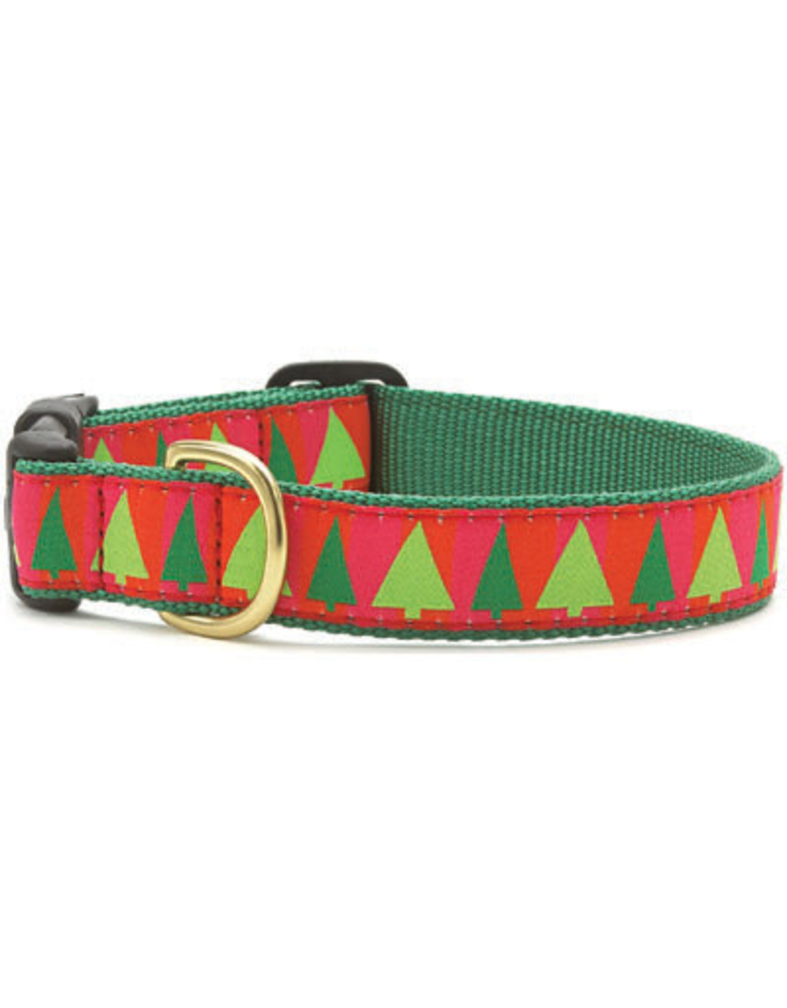 Up Country Christmas Festive Trees Collar: Narrow, XS