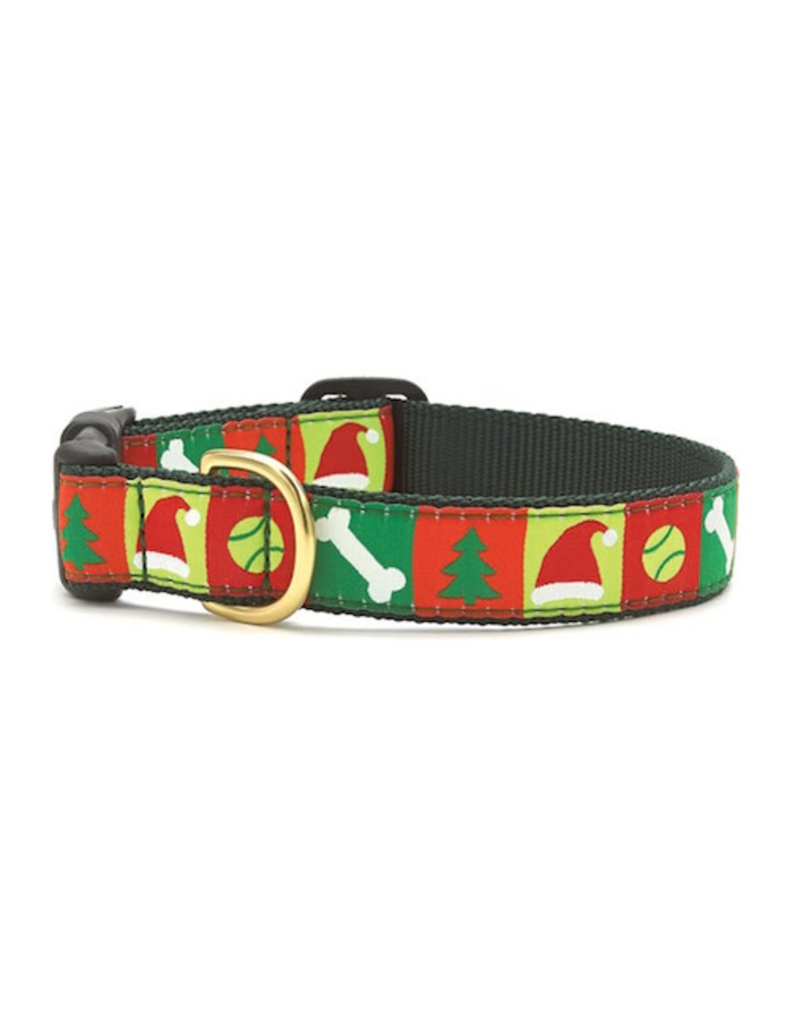 Up Country Christmas List Collar: Wide, M