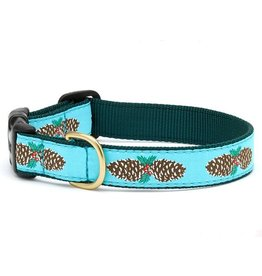 Up Country Christmas Pinecones Collar: Wide, M