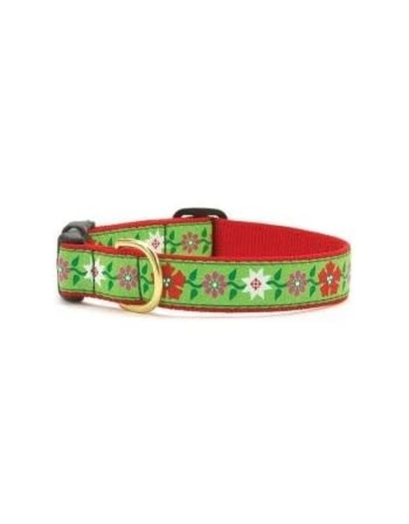 Up Country Christmas Pointsetta Collar: Narrow, S