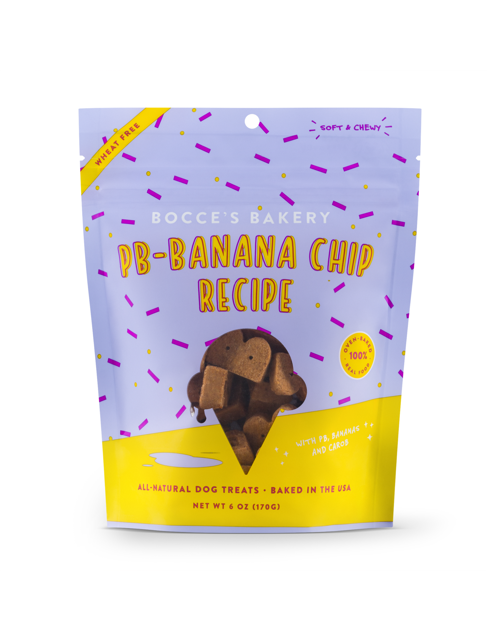 Bocce's Bakery Bocce's Bakery: Soft & Chewy PB Banana Chip, 6 oz