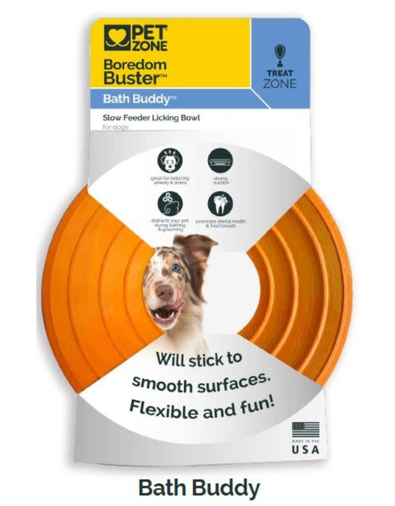 Hyper Pet Hyper Pet Bath Buddy: Suction Bowl, Orange