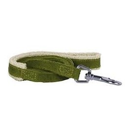 "Planet Dog Planet Dog Natural Hemp Leash: Green, 1/2"" x 5"