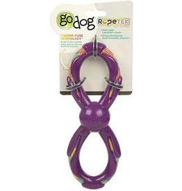 Go Dog Go Dog Rope Tek Figure 8 Rope: Purple, Small