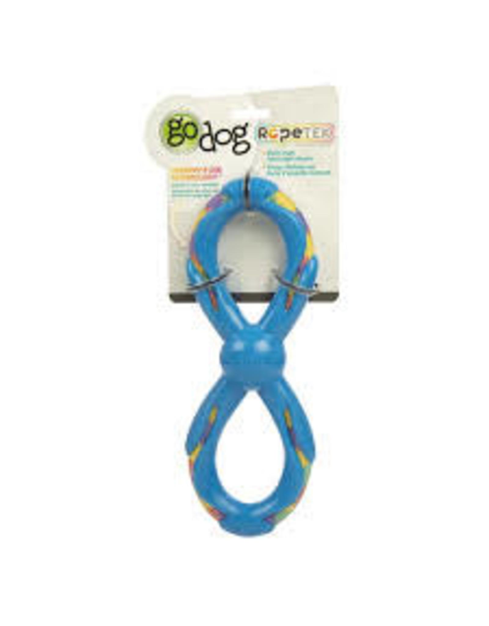 Go Dog Go Dog Rope Tek Figure 8 Rope: Blue, Large