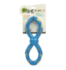 Go Dog Go Dog Rope Tek Figure 8 Rope: Blue, Large