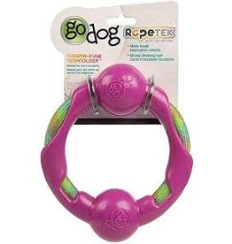 Go Dog Go Dog Rope Tek Ring: Pink, Large