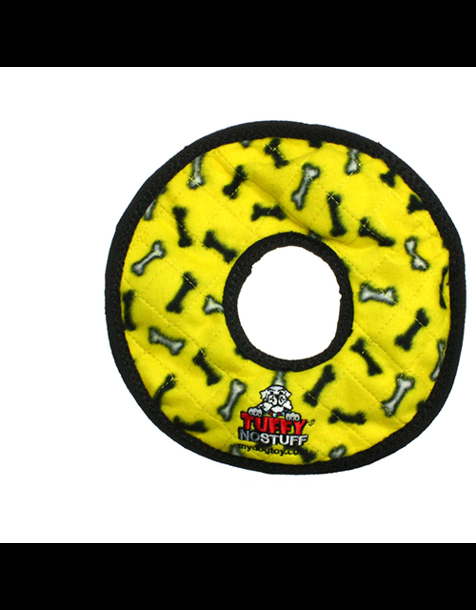 Tuffys No Stuff Ultimate Ring: Yellow, bone print