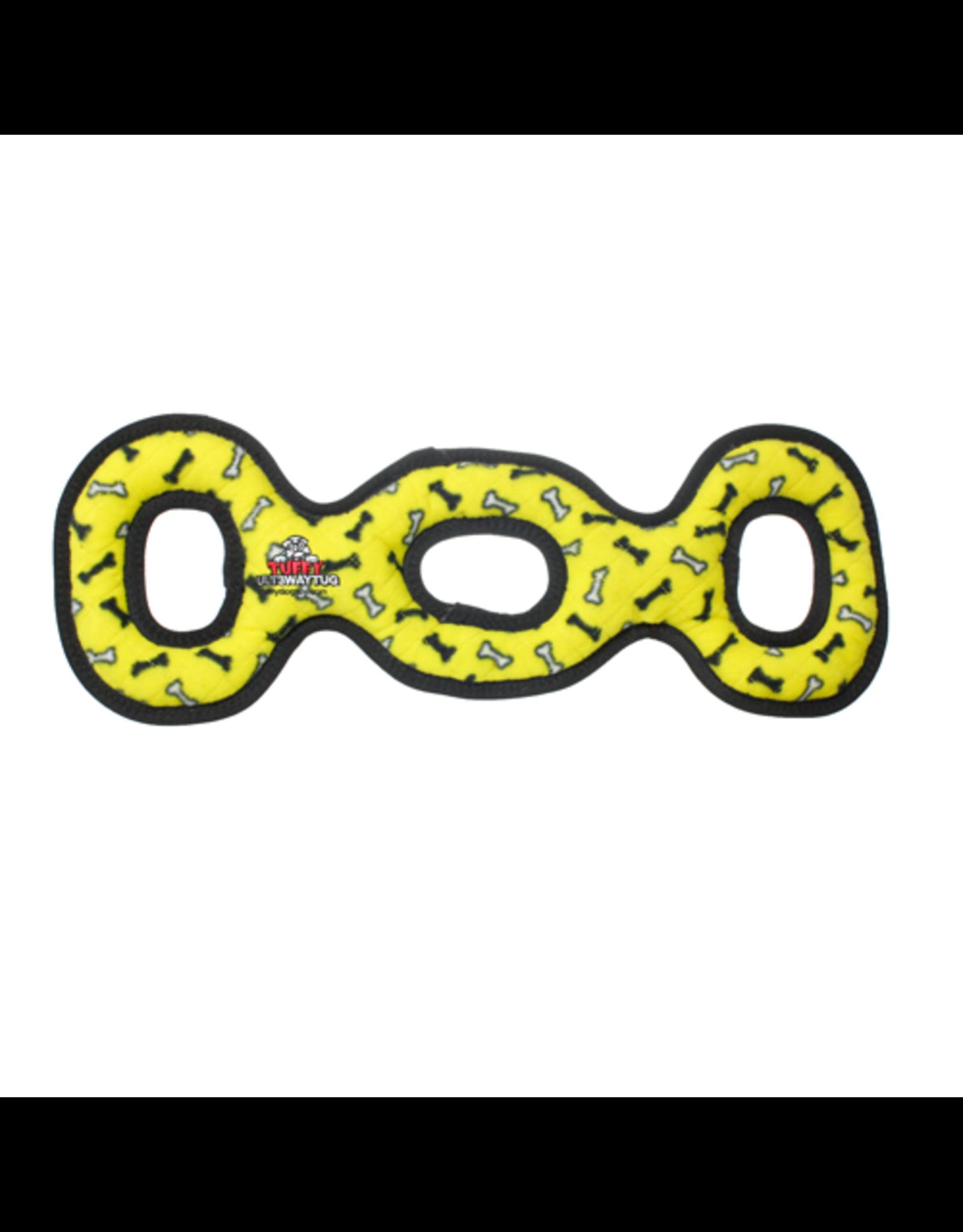 Tuffys Ultimate 3 Way Tug: Yellow, Regular