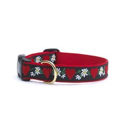 Up Country Hearts & Flowers Collar: Wide, M