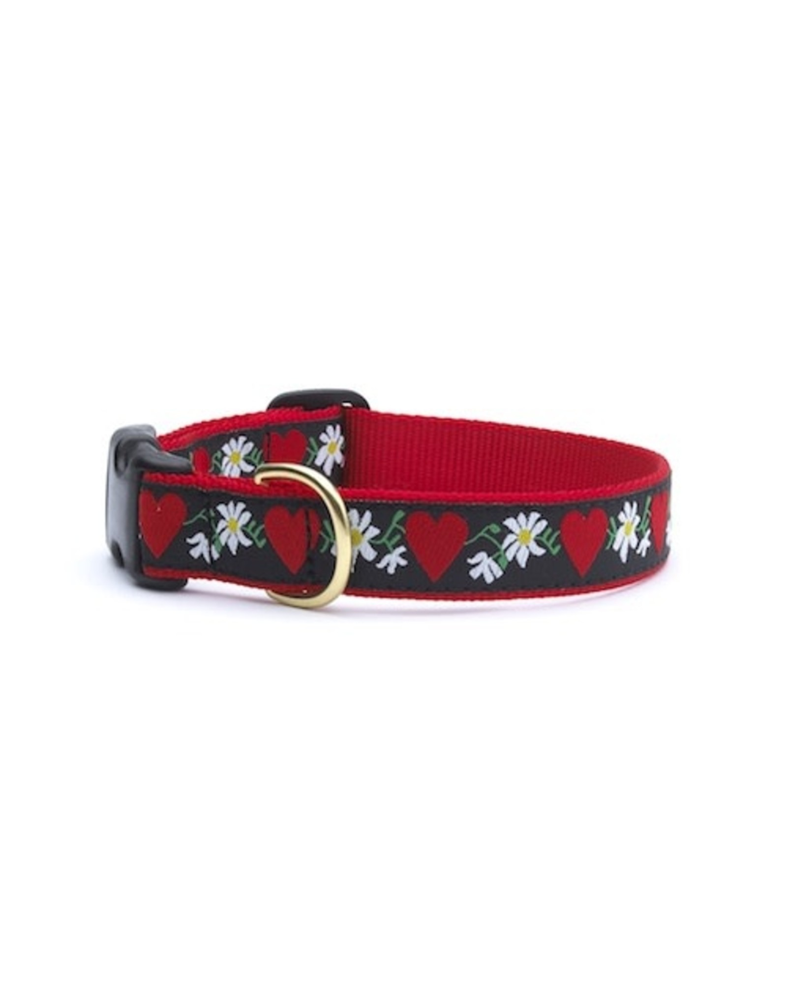 Up Country Hearts & Flowers Collar: Wide, L