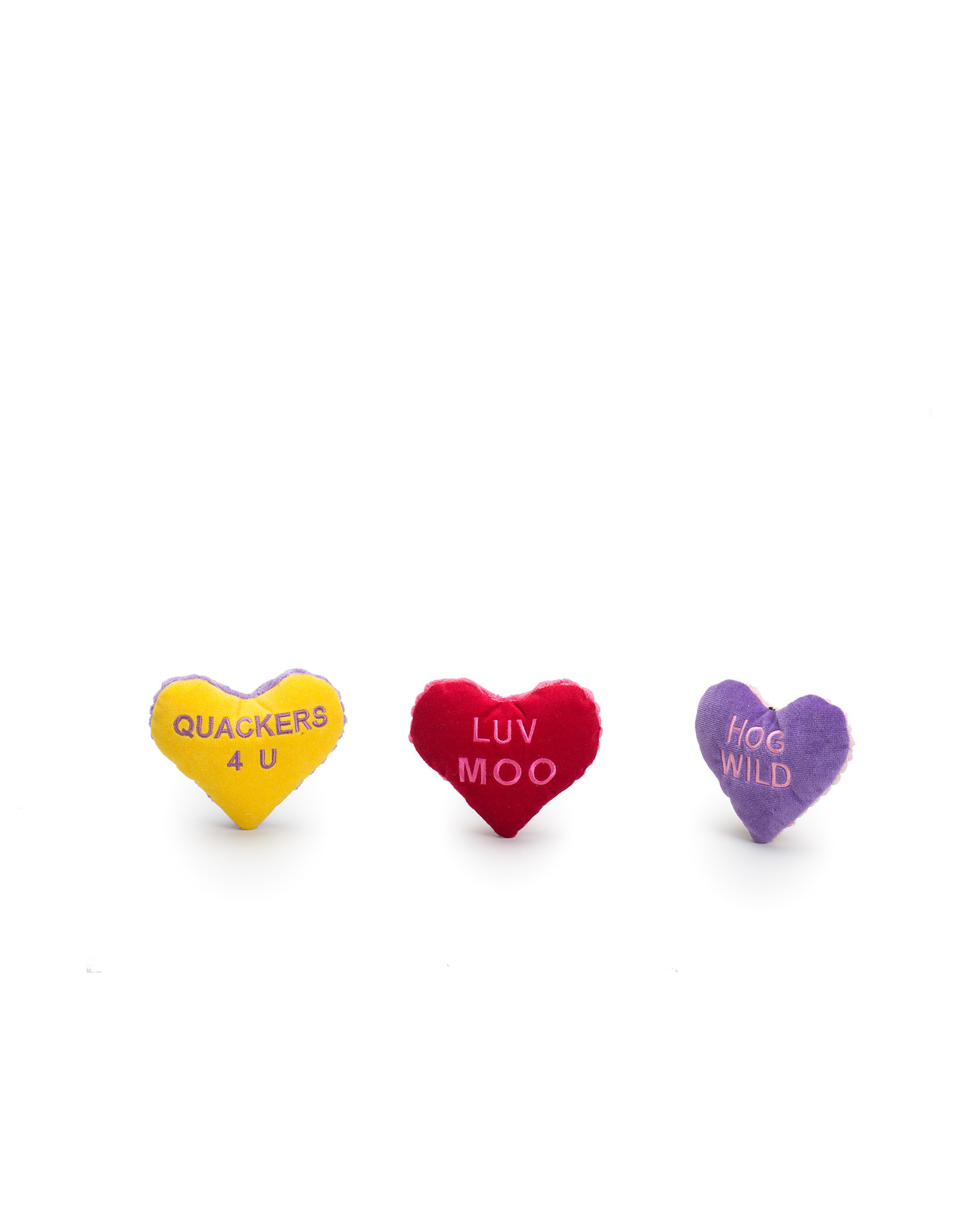 Hugglehounds Valentine Hearts: Assorted  Colors, L