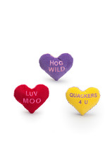 Hugglehounds Valentine Hearts: Assorted  Colors, S