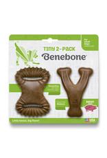 Benebone Benebone Bacon Chew: Tiny, 2 pack Dental Chew & Wishbone