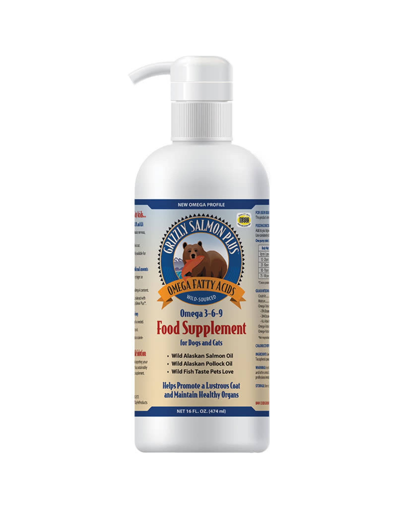 Grizzly Pet Products Grizzly Salmon Oil Plus:, 16 oz