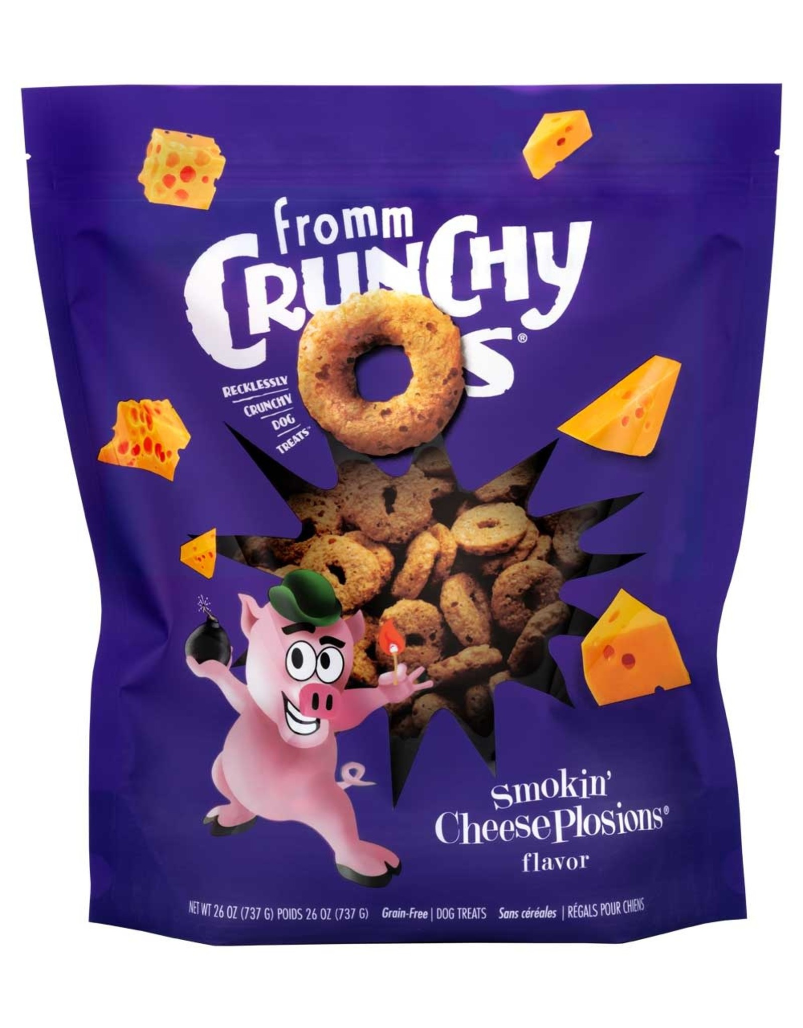 Fromm Fromm Crunchy O's: Smokin' Cheeseplosions, 26 oz