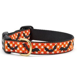 Up Country Batty Halloween Collar: Wide, S