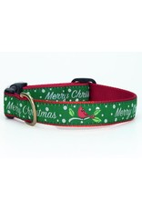 Up Country Merry Christmas Collar: Narrow, XS