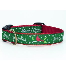 Up Country Merry Christmas Collar: Wide, M