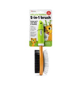 Petkin Soft Grip Bamboo 2 Sided Brush: , os
