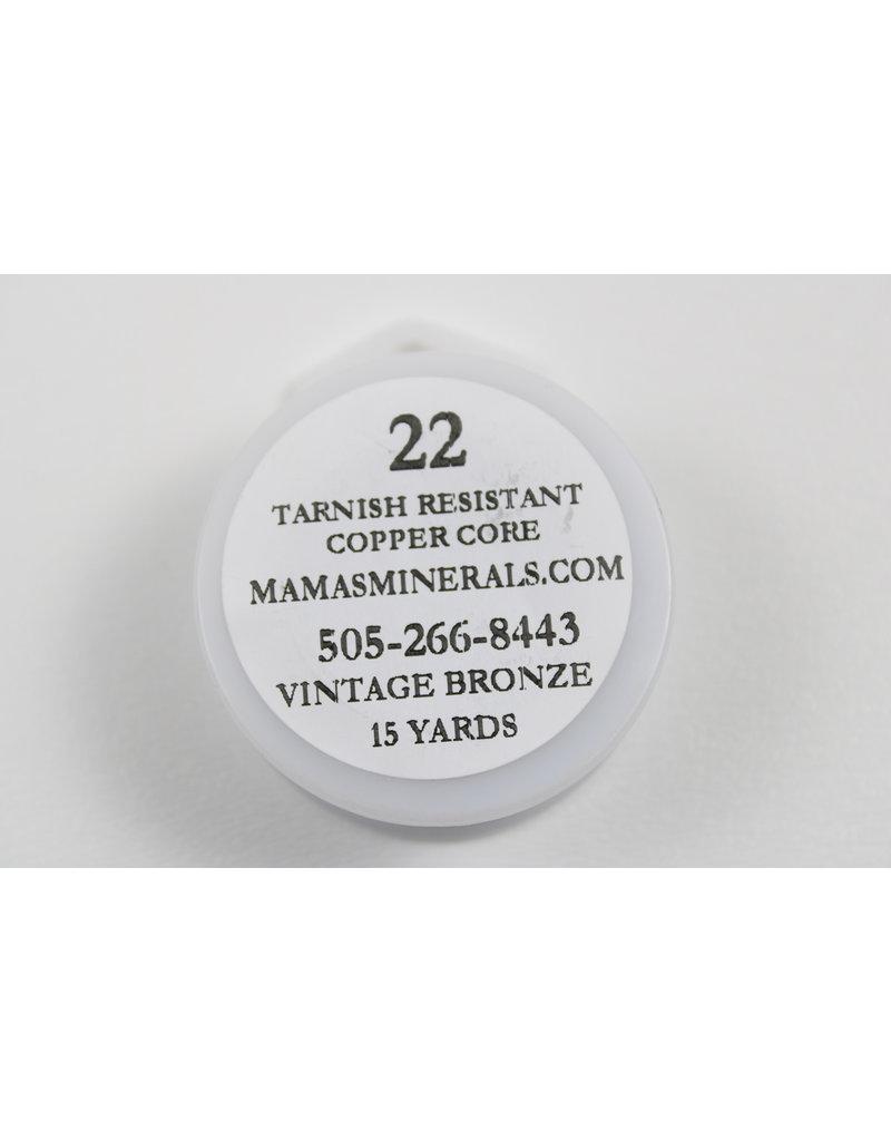 22 Gauge Vintage Bronze Wire w/ Copper Core 22ga x 15yds