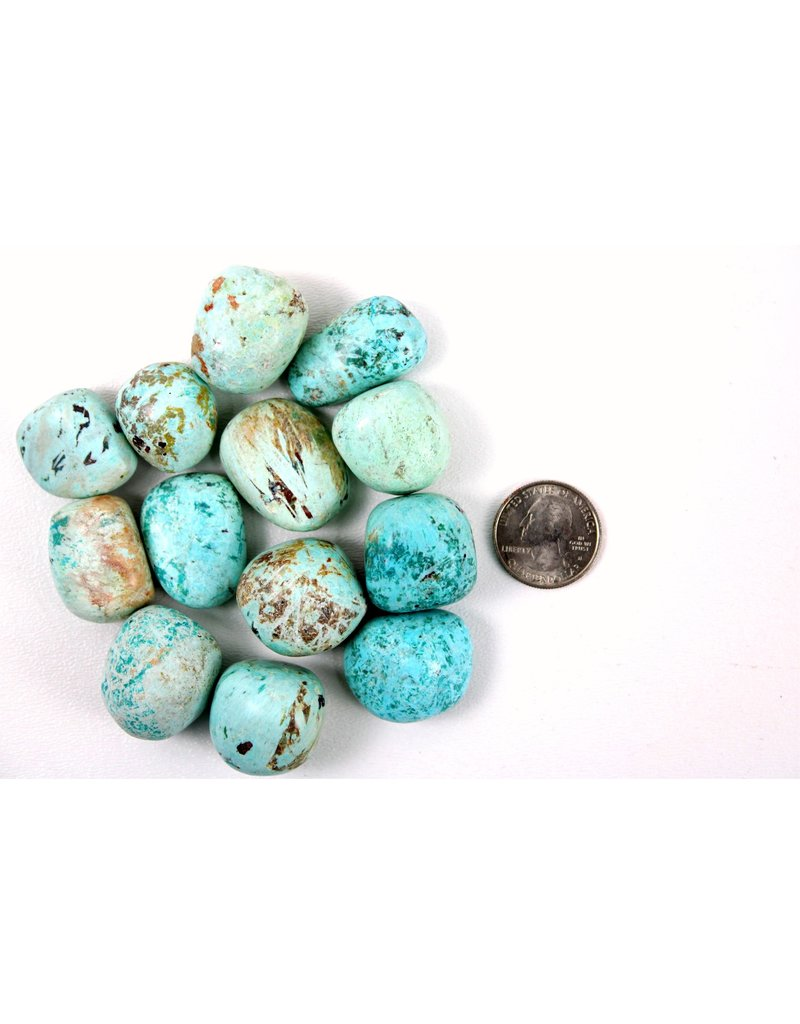 "Chrysocolla Peru Tumbled 1 1/4"" Pocket Stone"