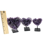 Amethyst Heart on Stand 326-350g